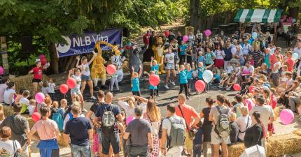 Poskočno rojstnodnevno praznovanje NLB Vite v ZOO Ljubljana