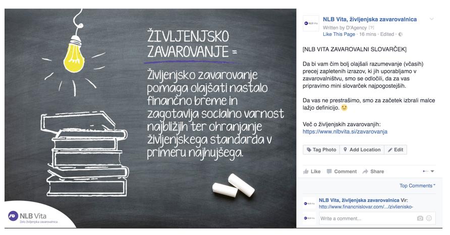 NLB Vita - Zavarovalni slovarček