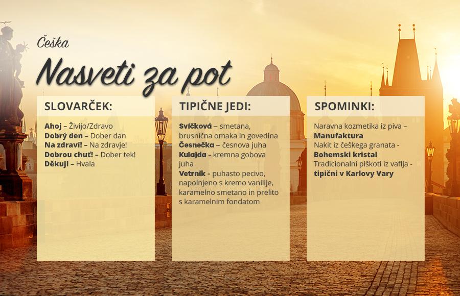 Preden se odpravite na Češko...